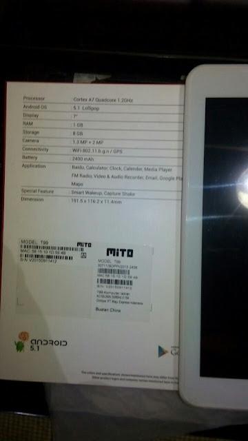 Review Tablet 500 Ribuan Ram 1 GB Mito T99+