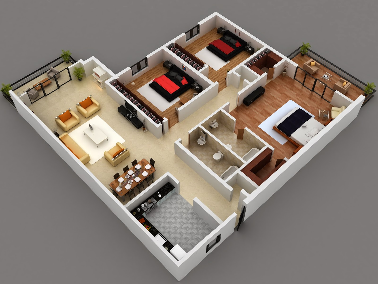 Tanzania house design and floor plan for Good house plans