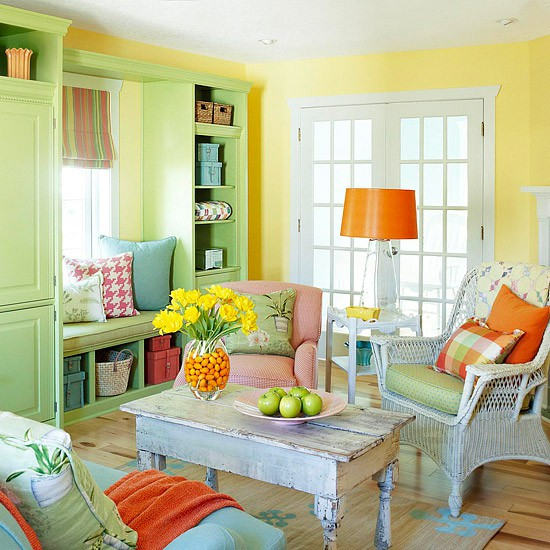 Modern Furniture 2013 Colorful Living Room Decorating Ideas