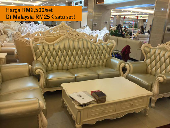 Harga set sofa murah eksklusif di Fooshan, China