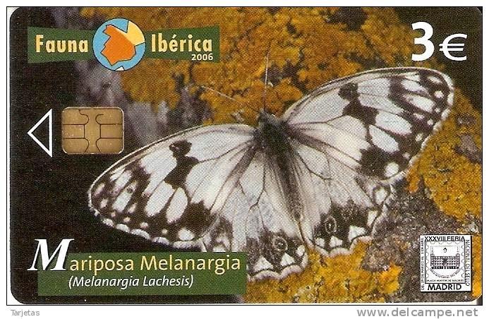 Tarjeta telefónica Mariposa melanargia (Melanargia lachesis)