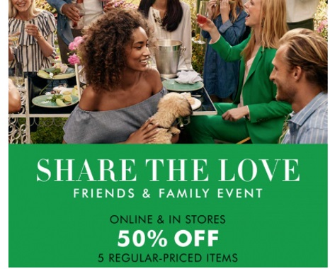 Banana Republic Friends & Family Event 50% Off Promo Code
