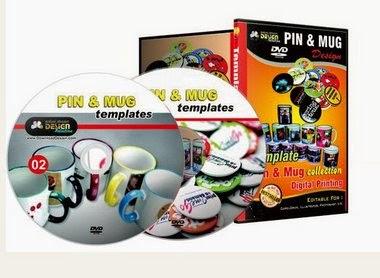 Paket Kumpulan Template Desain MUG & PIN Terbaru !!