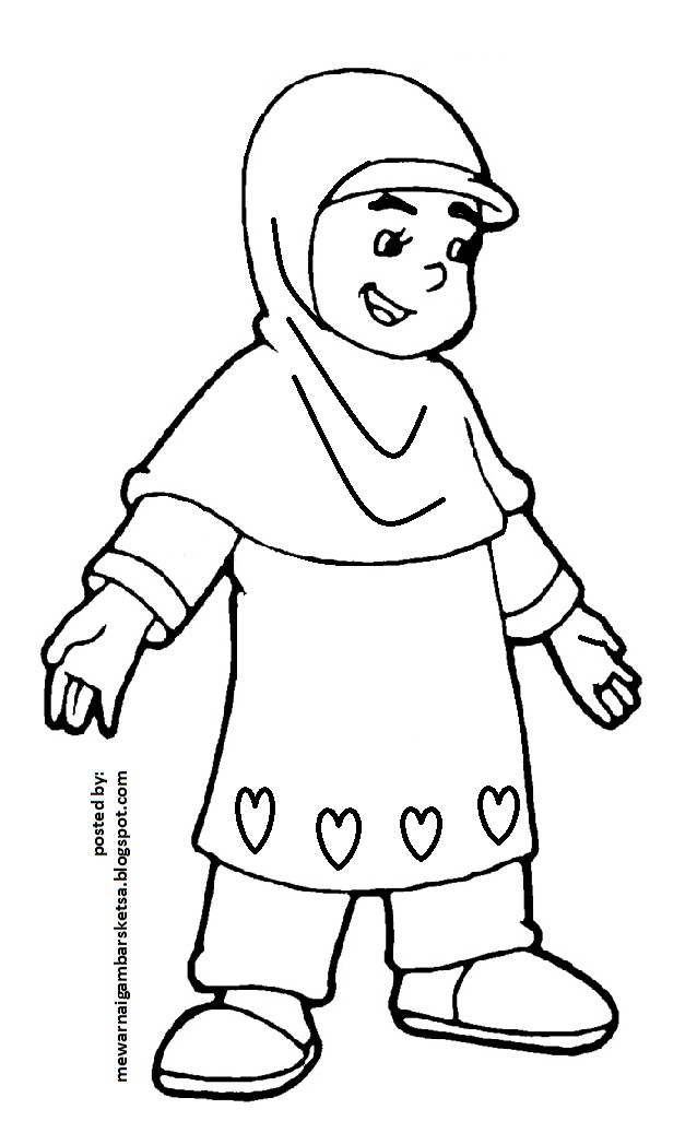 Mewarnai Gambar Kartun Anak Muslim 32 Auto Electrical Wiring Diagram