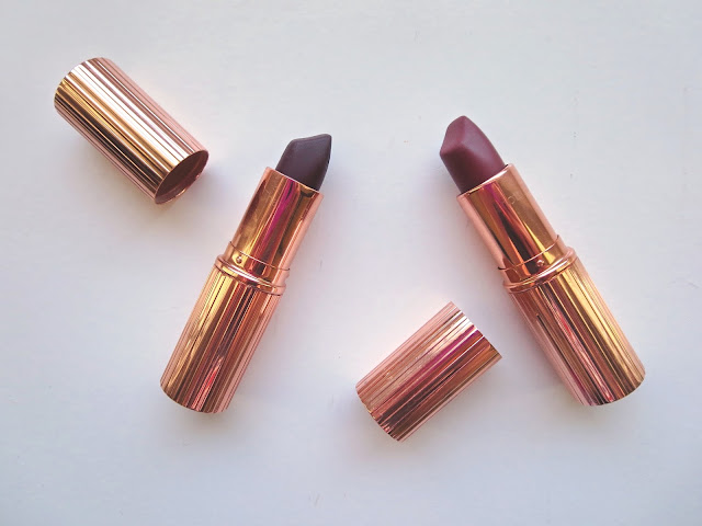 a picture of Charlotte Tilbury Matte Revolution Lipsticks in Bond Girl & Glastonberry
