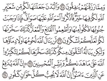 TAFSIR SURAT AL-HAJJ AYAT 36, 37, 38, 39, 40