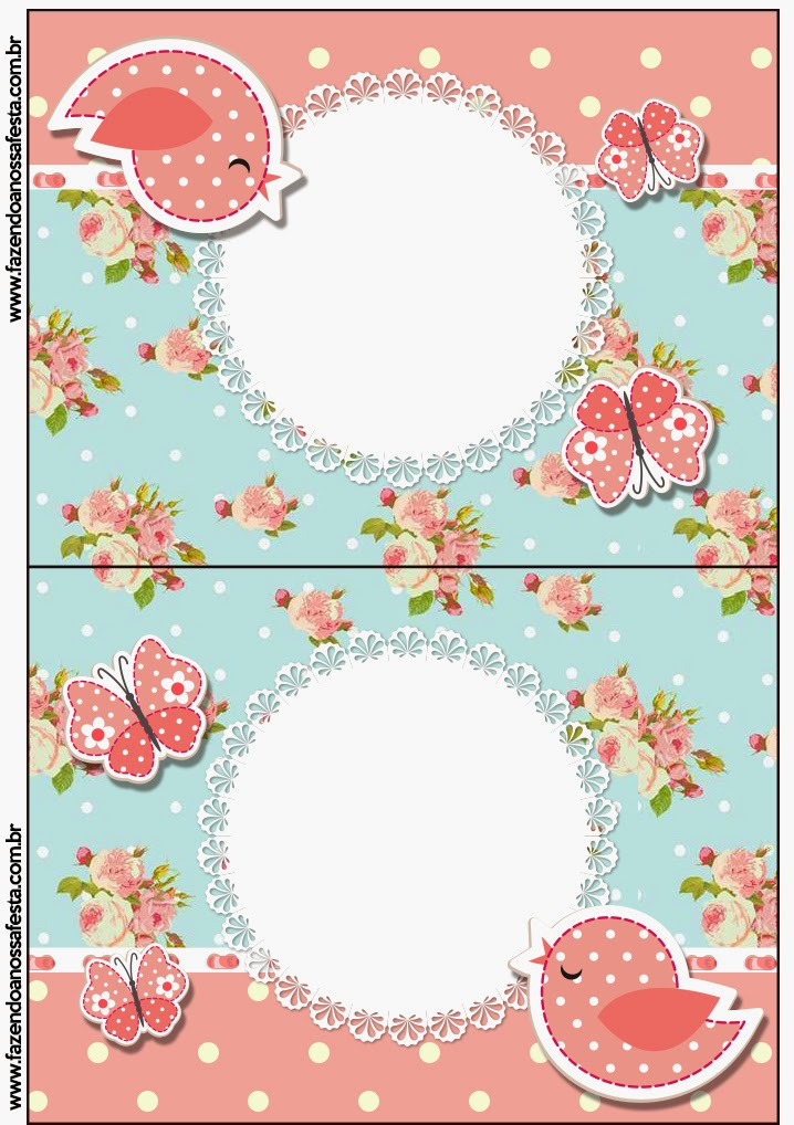 Birds and Butterflies Free Printable Labels.