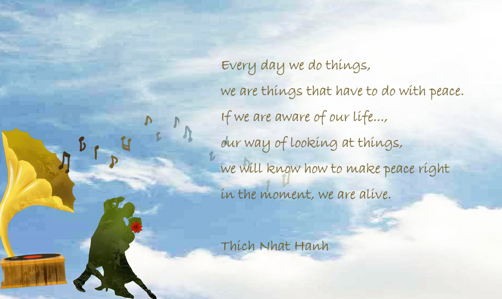 Image result for thich nhat hanh quotes on [peace
