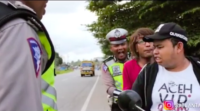Video Kocak Ala Polisi Aceh, Ungkap Modus Pengendara Kabur Dari Tilang