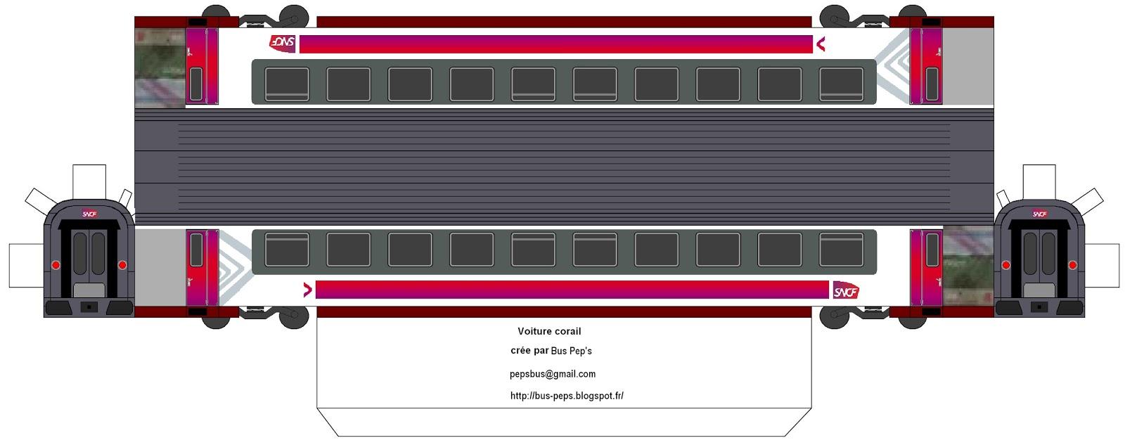 maquette papier voiture corail. Black Bedroom Furniture Sets. Home Design Ideas