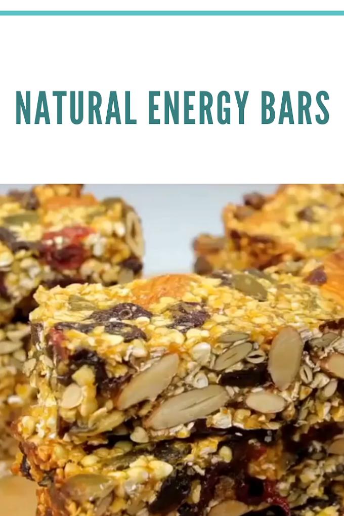Natural energy bars