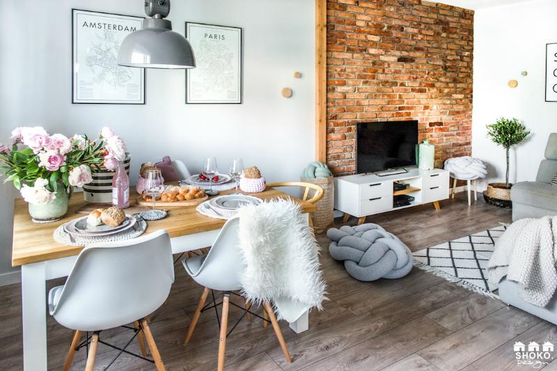 Decoración nórdica con nevera rosa smeg by Habitan2 | Decoración handmade para hogar y eventos