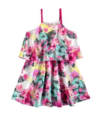 vestido estampado infantil malwee