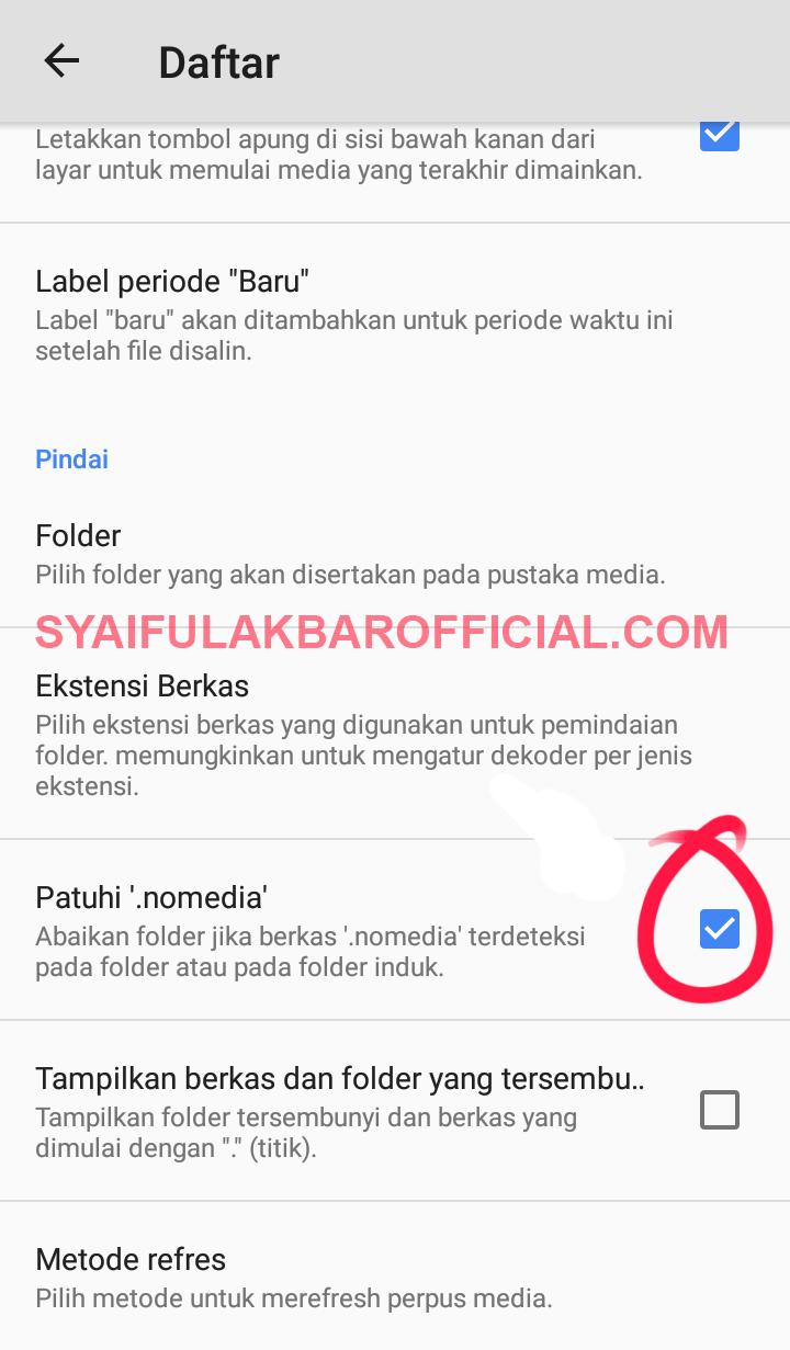 Cara Mengatasi Video Di SD CARD Tidak Muncul/Tidak Terbaca Pada Aplikasi MX PLAYER