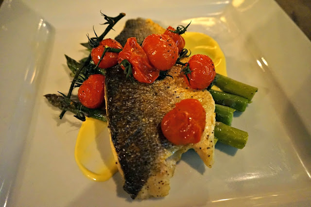 Seabass with tomato and sauce