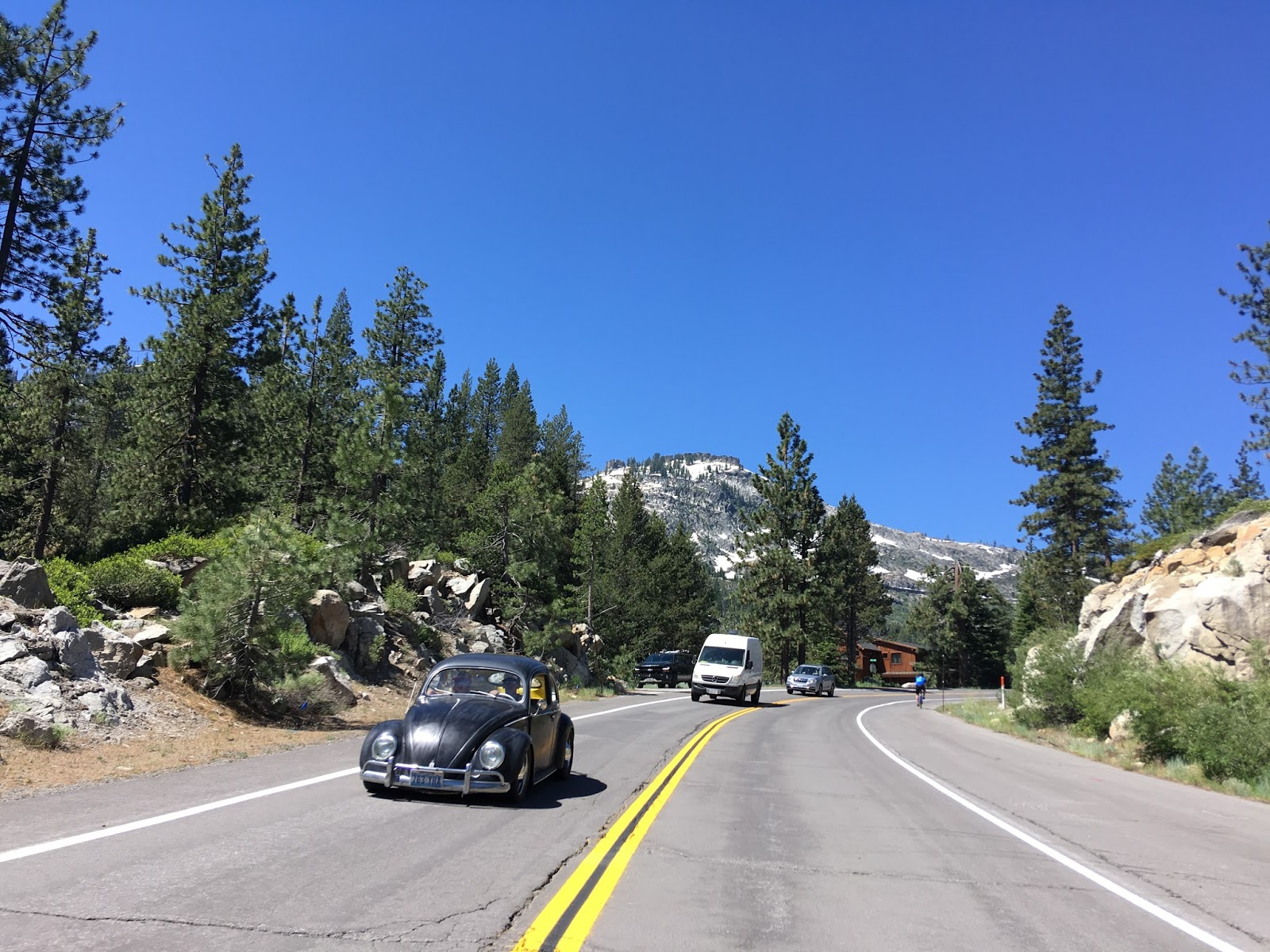 apparently there was some sort of volkswagen cruise going on that became very apparent at the start of the climb westward towards donner pass
