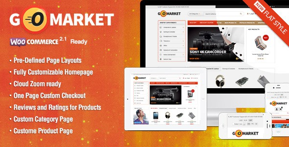 WordPress Ecommerce Themes - GoMarket