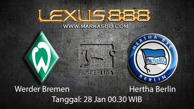 PREDIKSIBOLA - PREDIKSI TARUHAN BOLA WERDER BREMEN VS HERTHA BERLIN 28 JANUARI 2018 ( GERMAN BUNDESLIGA )