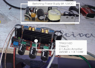TPA3116 and 12V DC Switching Power Supply