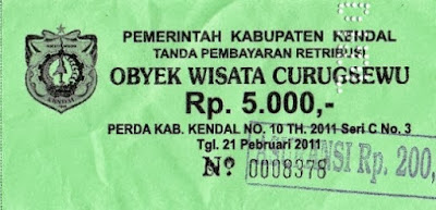 tiket masuk curugsewu | wonderful indonesia