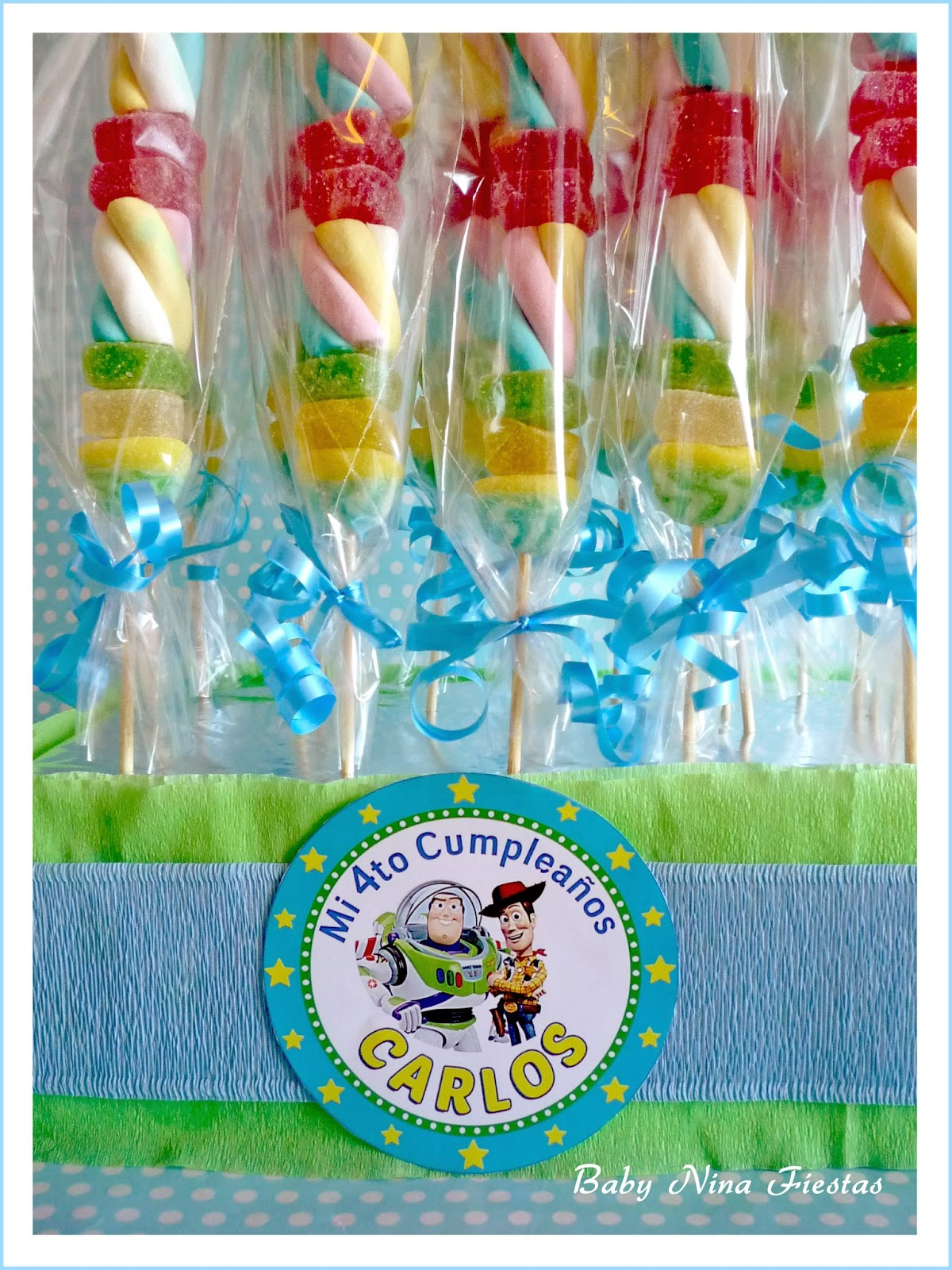 Brochetas chuches toy story