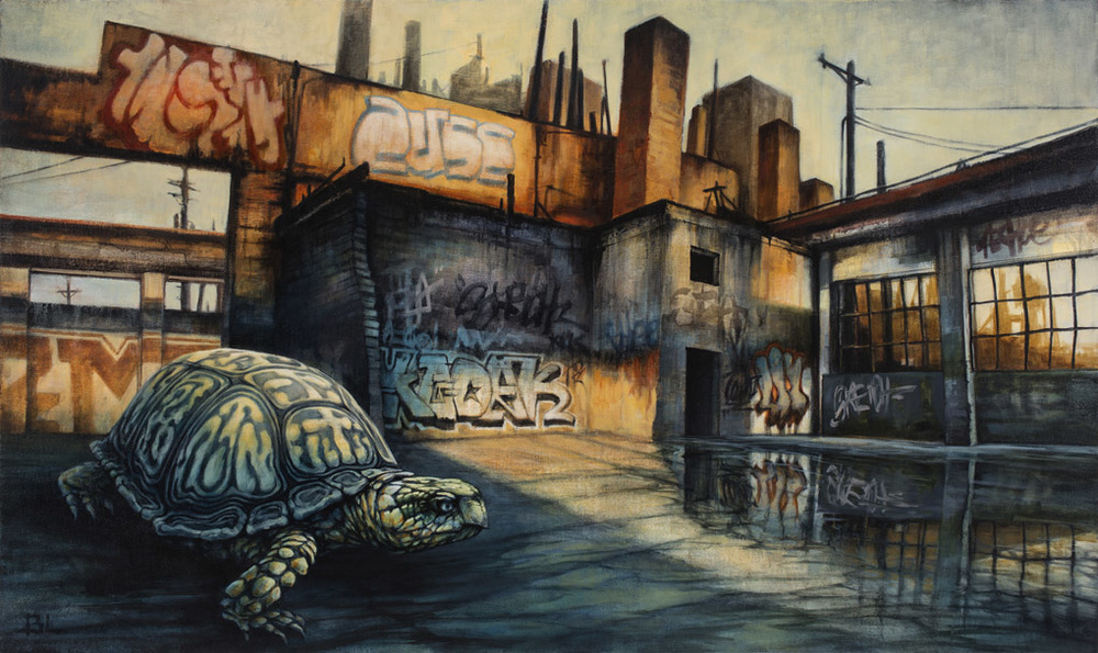 06-Refuge-Brin-Levinson-Paintings-of-Nature-Reclaiming-Cities-www-designstack-co
