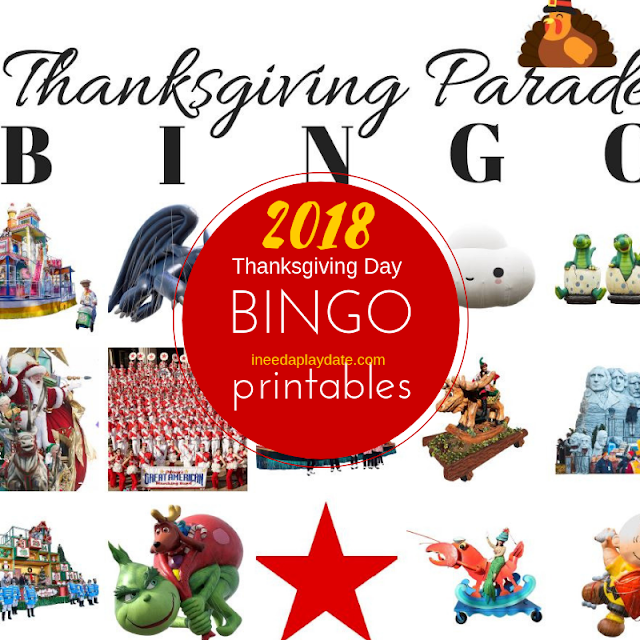 Thanksgiving Day Parade BINGO for 2018 {Free Printable} #MacysParade