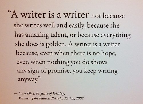 Keep writing anyway