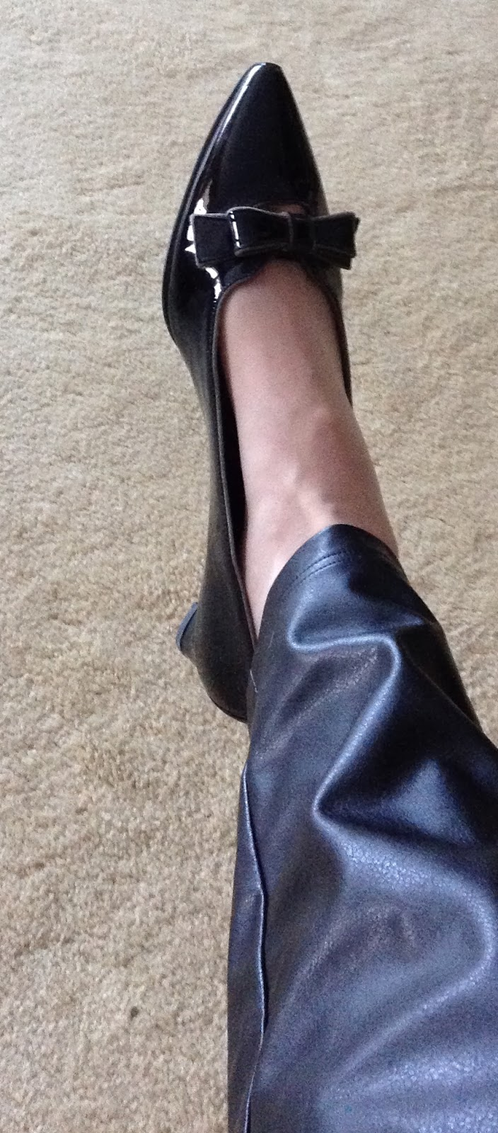 Low Heeled Black Shoe Boots
