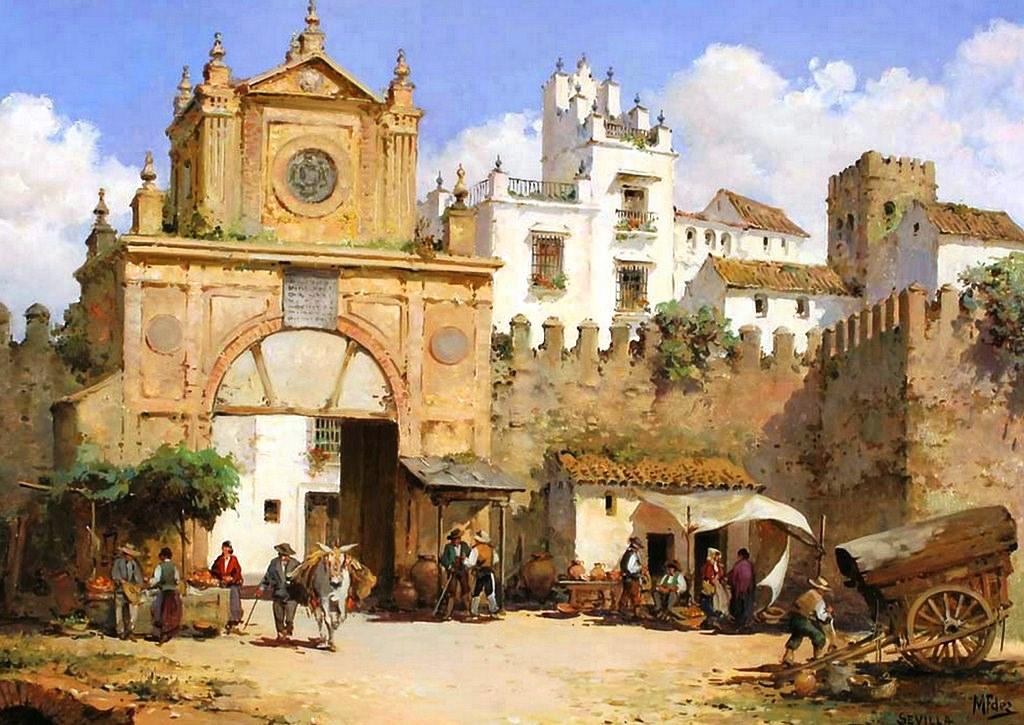 Cuadros modernos pinturas y dibujos lbum de paisajes - Casas gratis en pueblos de espana ...