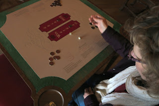Learning to play Hazard  in the King's Drawing Room, Kensington Palace