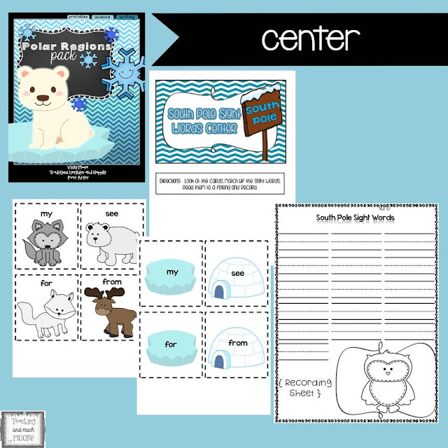 polar regions center ideas and printables