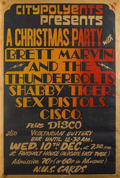 Shabby Tiger poster with Sex Pistols support