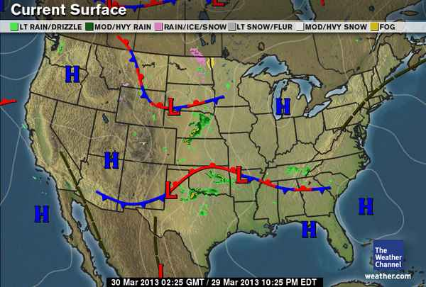 Current Front Map Whether the Weather Weathers or Wanes: March 2013
