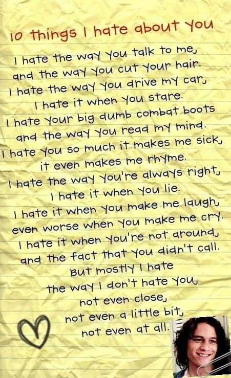 The way i don't hate you