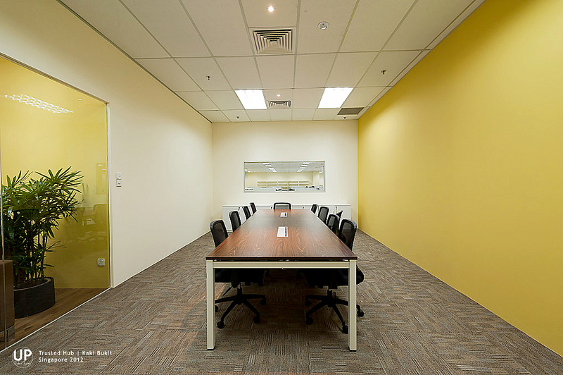 Conference room design with opening to overlook over operation department