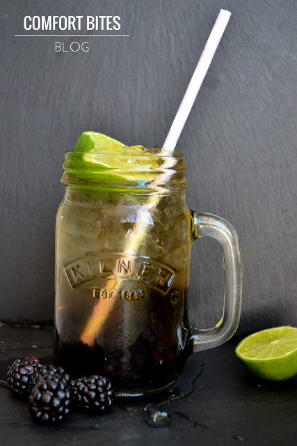 Blackberry and Lime Camomile Iced Tea AIP paleo vegan