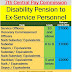 DISABILITY PENSION TO EX-SERVICE PERSONNEL - LOKSABHA QUESTION