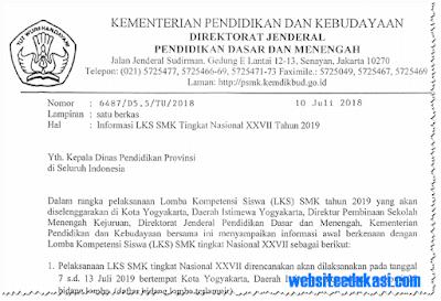 LKS SMK Tingkat Nasional XXVII Tahun 2019