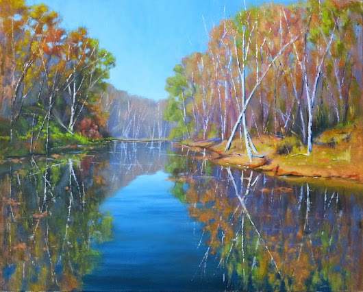 "Johanne Morin's Art in the Making: ""Fall in the Air"", Oil, 16 x 20"""