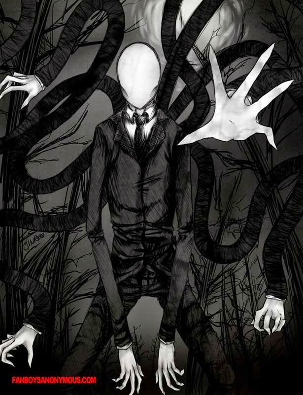 slender man drawing art scary creepy horror tentacles