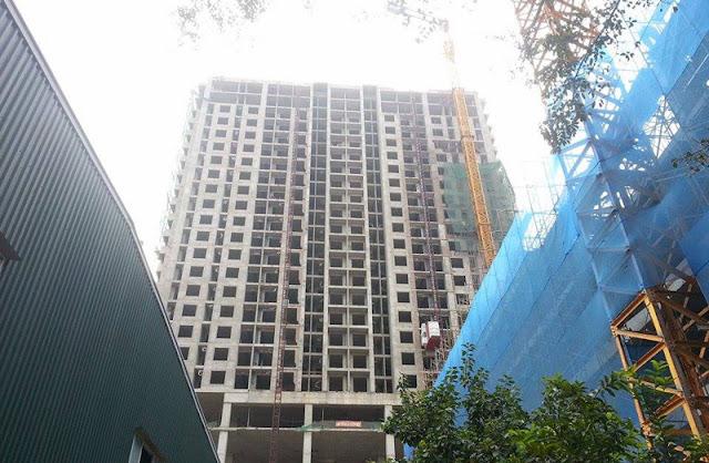 Dự án với quy hoạch ban đầu có 22 tầng, hiện được xây dựng vượt khá nhiều tầng