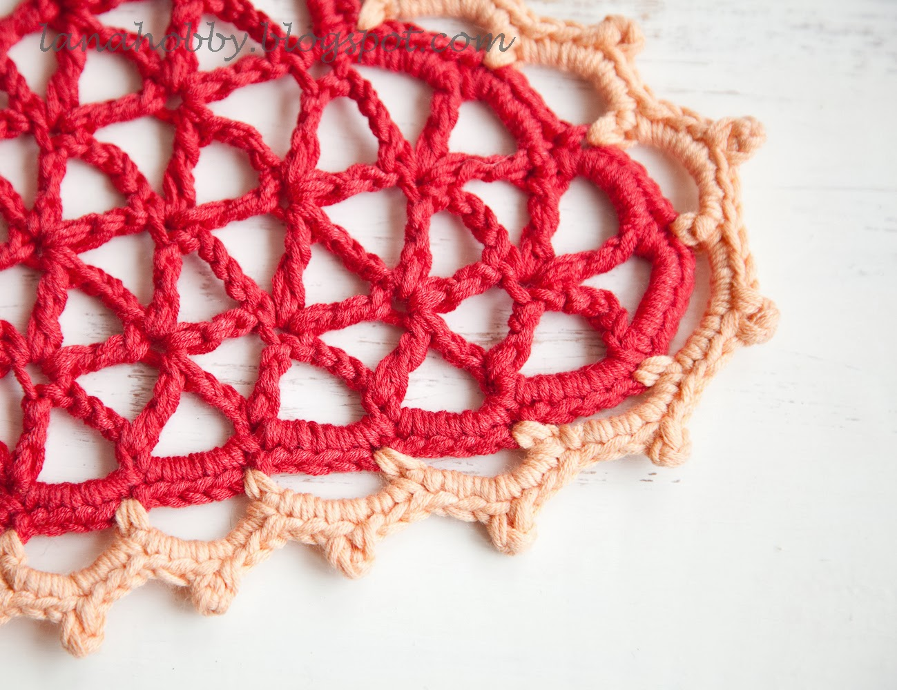 Free Crochet Pattern For Heart Doily : Lana creations My knitting work, knit project and free ...