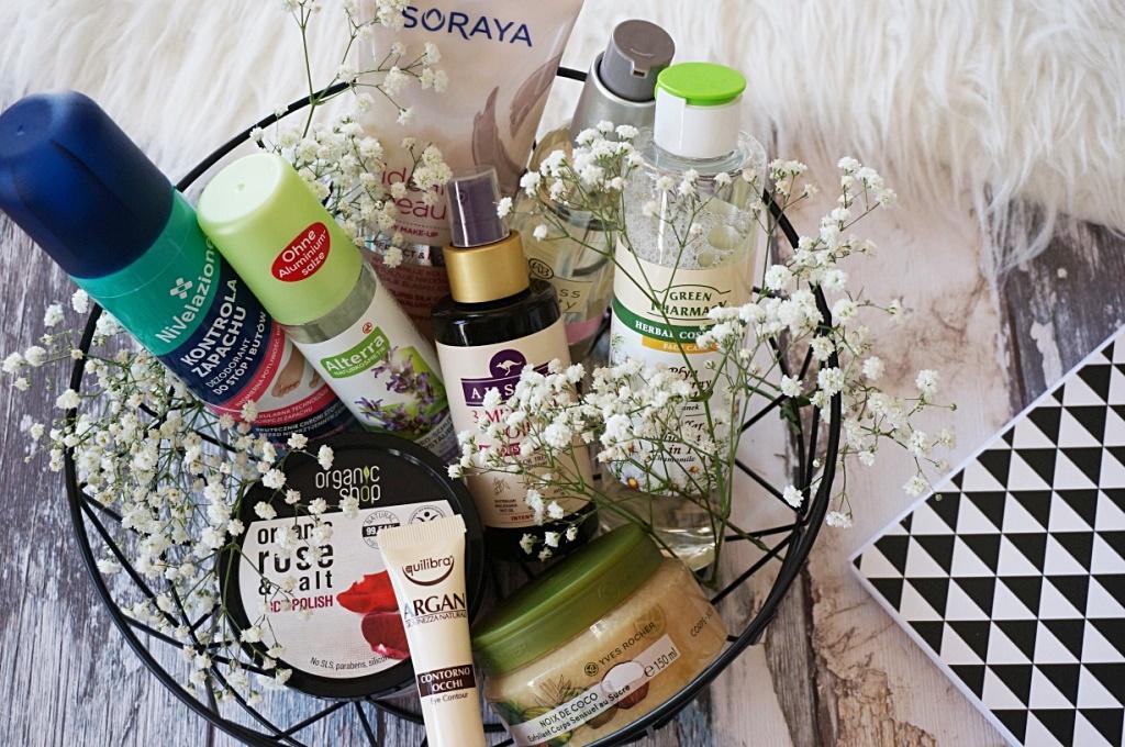 Kosmetyczni ulubieńcy sierpnia - Alterra, Organic Shop, Equilibra, Yves Rocher, Welness&Beauty, Green Pharmacy, Aussie, Soraya, Nivelazione