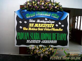 papan bunga ucapan turur berduka cita model mahkota