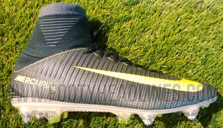 3569aea0 2016-2017 Billige Fotballsko Nike Mercurial Superfly CR7 Cristiano Ronaldo  Svart Gold