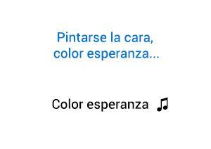 De que trata la canción Color Esperanza de Diego Torres