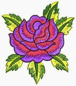 rose blomme ontwerp Patch