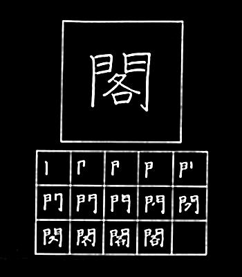 kanji dabinet