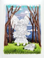 sky coloured on bookworm fairy scene wip
